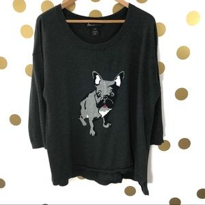 Lane Bryant Frenchie French Bulldog High Low